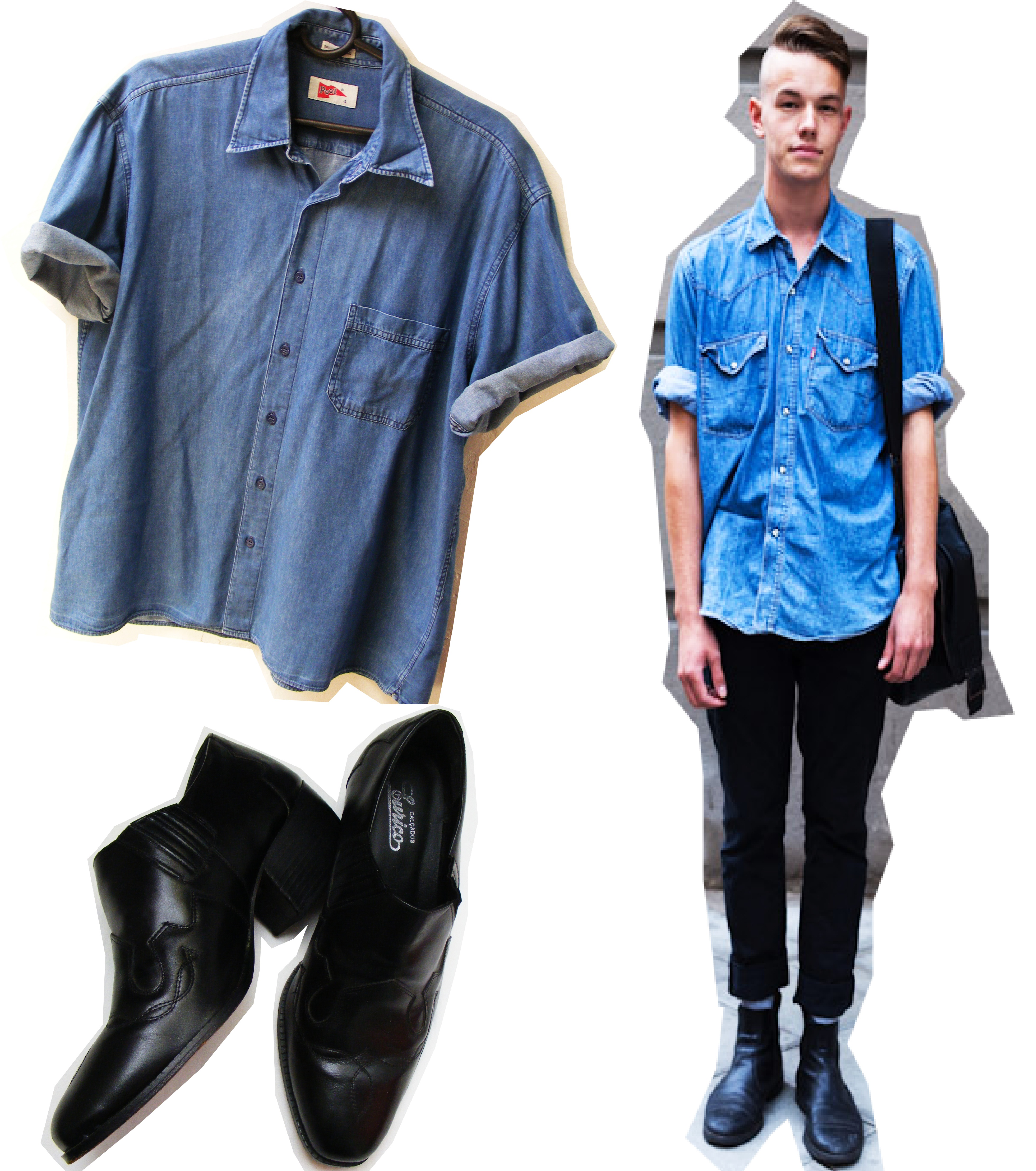 Camisa Jeans Pool ... 6a8fa3db47908